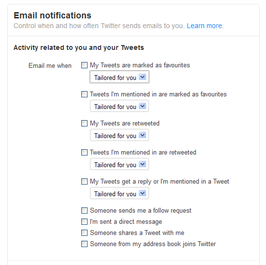 Twitter Notifications