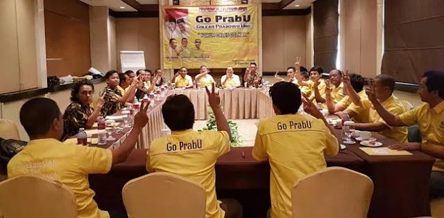 Ini Enam Alasan Forum Caleg Golkar Dukung Prabowo-Sandi