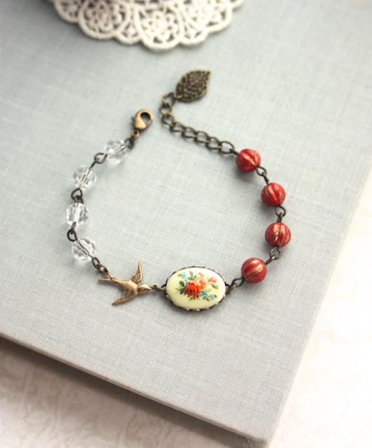 vintage style bead bracelet