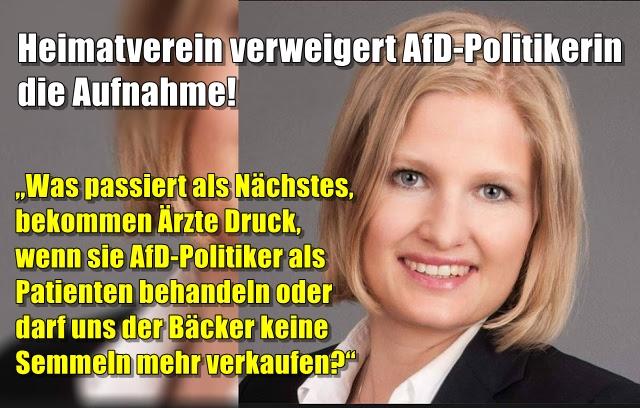 Heimatverein verweigert AfD-Politikerin die Aufnahme