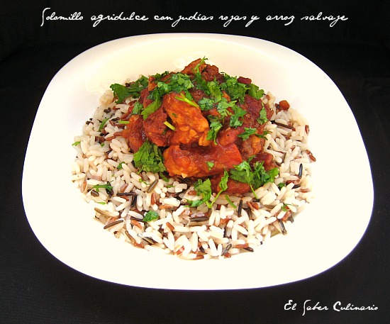 solomillo-agridulce-alubias-rojas-arroz-salvaje-receta-facil