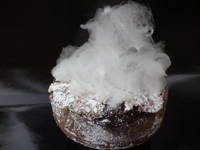 Wolken suikerspin cake