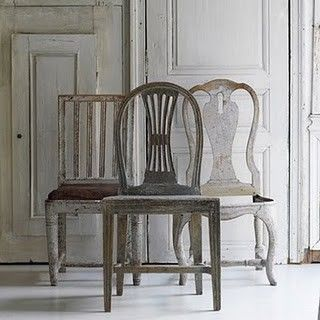 Three vintage Swedish dining chairs - found on Hello Lovely Studio