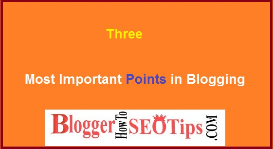 Start Blogging, important tips,
