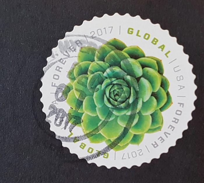 francobollo Green Succulent Global Forever 2017