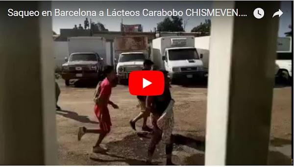 Saquearon Lácteos Carabobo en Barcelona