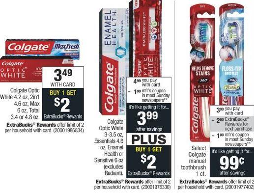 FREE Colgate Toothbrush & Toothpaste at CVS - 5/5-5/11