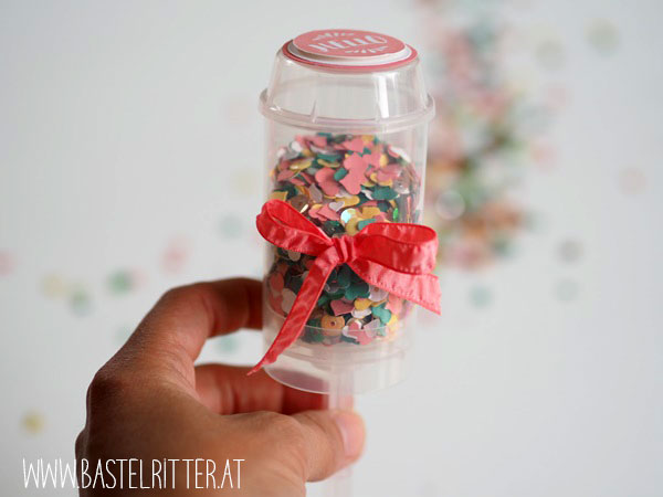 Papier Turnier Farbchallenge creaditive konfetti Stampin up Bastelritter