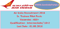Air India Recruitment 2016