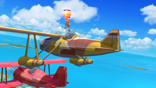 Pilotwings two planes yellow red airplanes Super Smash Bros. For Wii U Koopa Meteor