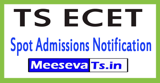 TS ECET Spot Admissions Notification 2017