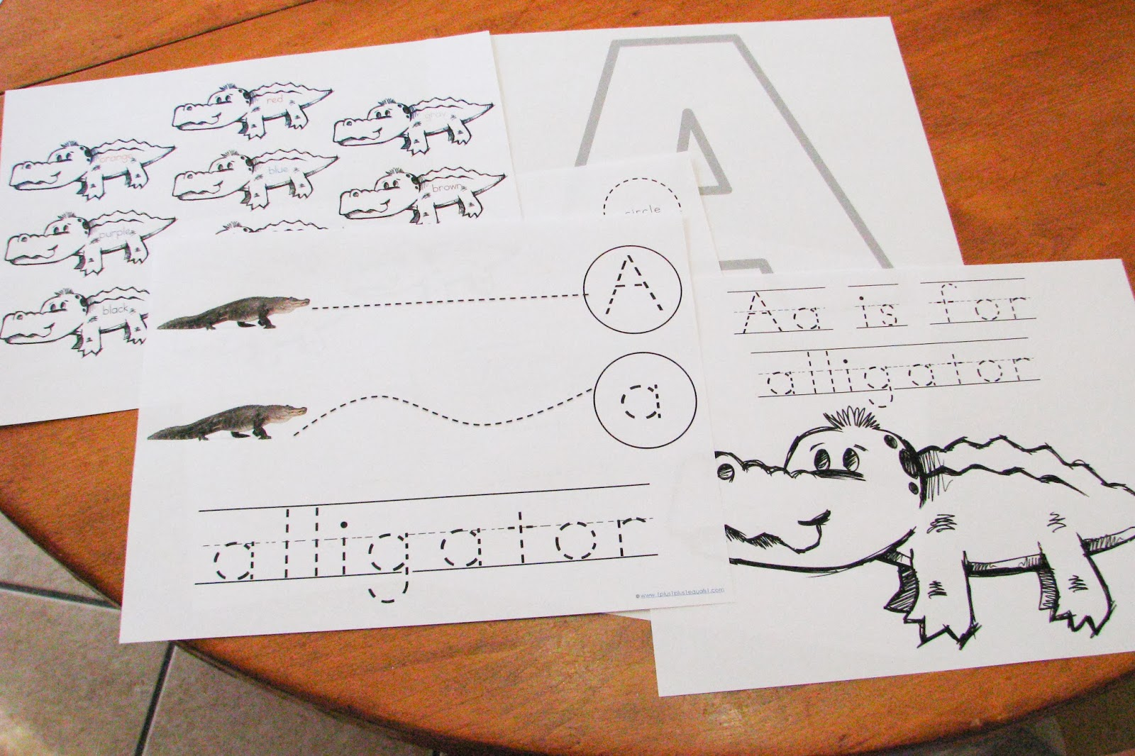 Mommy S Little Helper Letter A Alligator