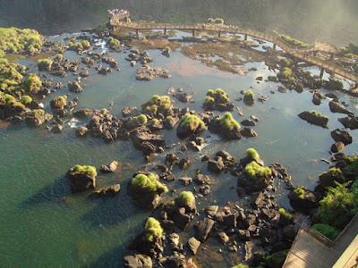 Cataratas do Iguaçu em período de seca