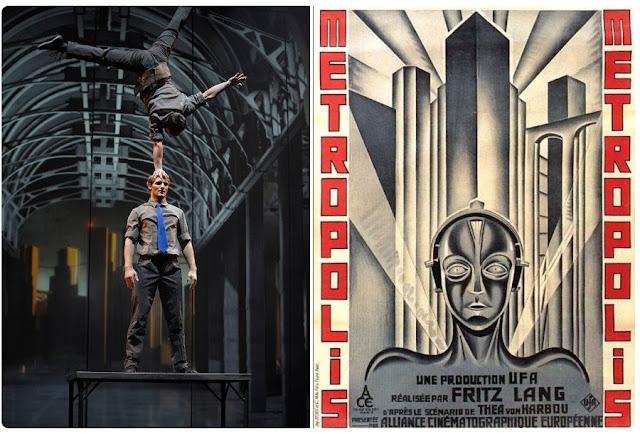 Cirkopolis inspiré du film Metropolis