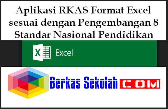 Download Aplikasi RKAS Format Excel sesuai dengan Pengembangan 8 Standar Nasional Pendidikan
