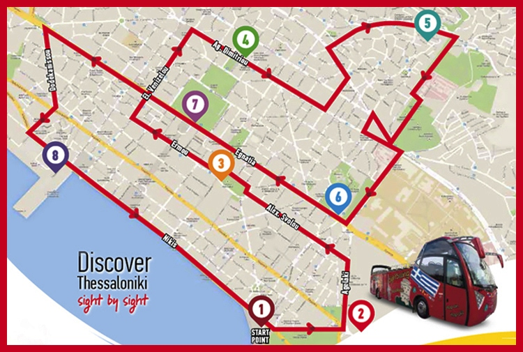 solun mapa Kao na dlanu : Izlet iz oblasti PIERIA   Θεσσαλονίκη   Tesaloniki  solun mapa