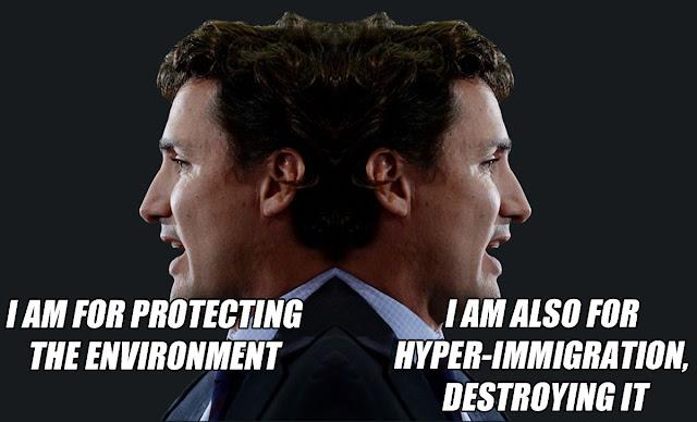 Janus Head Justin Trudeau
