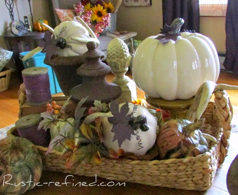 Fall Decor in the Entryway & Living Room using Purple