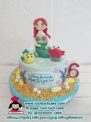 Birthday Cake Princess Ariel Putri Duyung