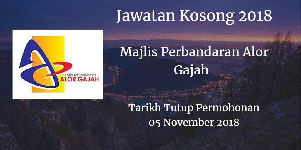Jawatan Kosong MPAG 05  November 2018