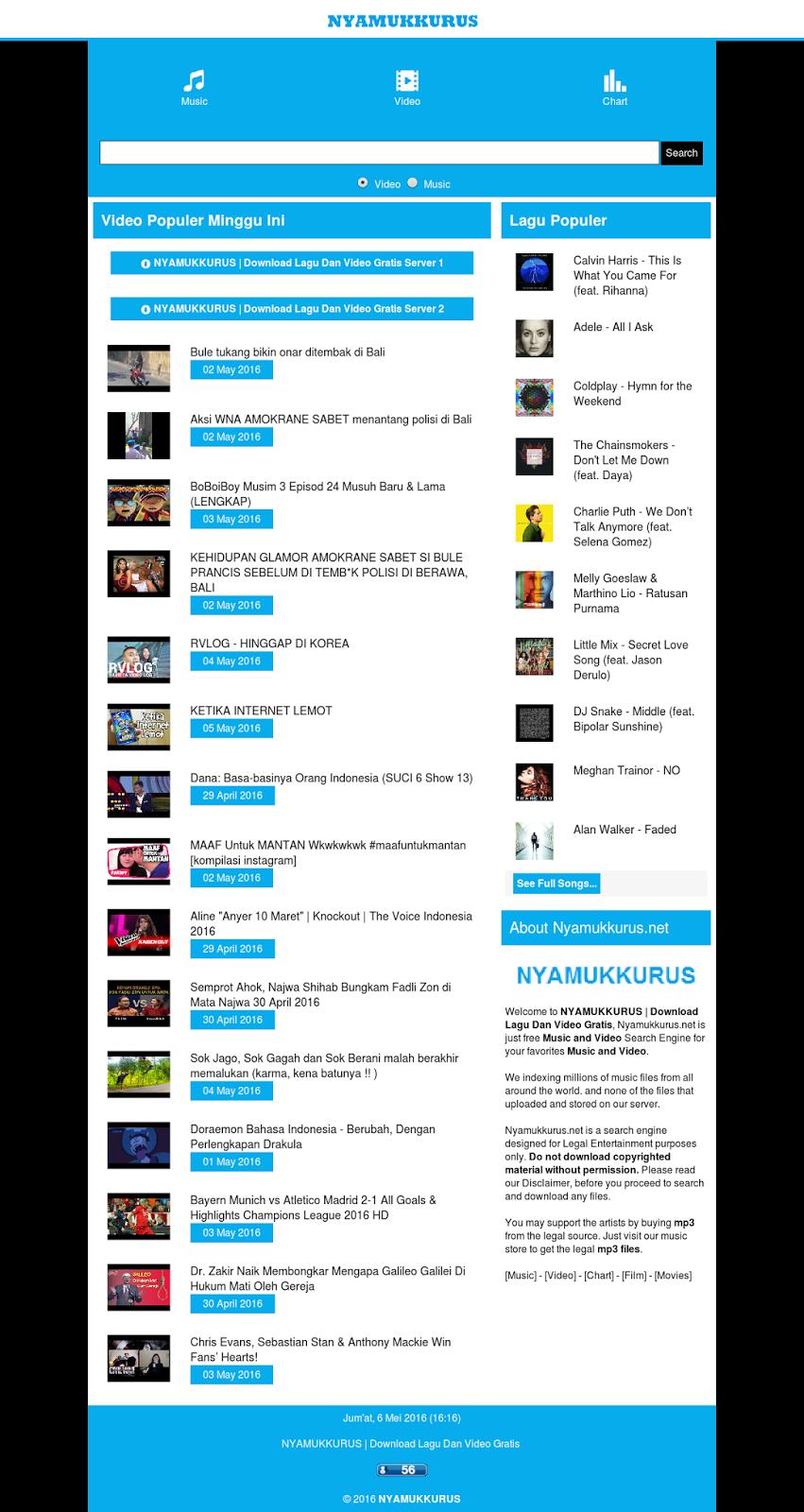 NYAMUKKURUS | Download Lagu Dan Video Gratis