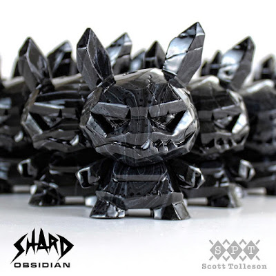"Obsidian Shard Dunny 3"" Resin Figure by Scott Tolleson x Kidrobot"