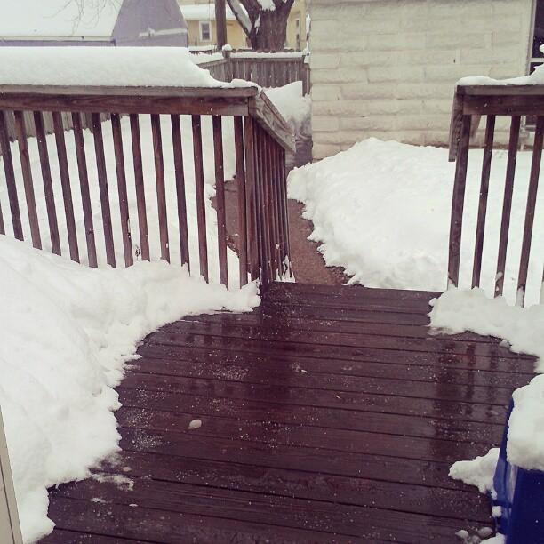 Shoveled deck