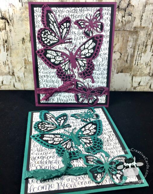 Card, Handwritten, Beautiful Butterfly Dies, Thank You