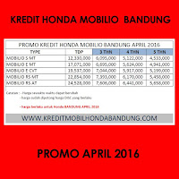 Paket Kredit Honda Mobilio April 2016, Harga Honda Mobilio April 2016