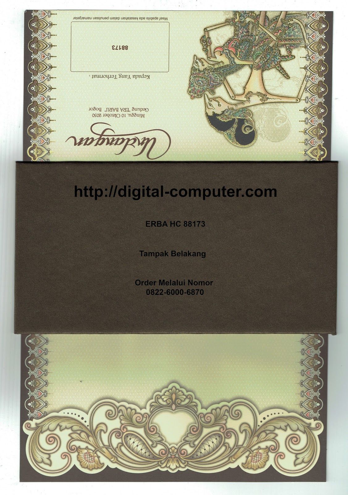 undangan hardcover ERBA HC-88173
