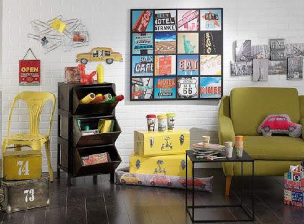 Creative home decorating in a simple