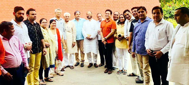 Faridabad congressman's meeting concludes, condole condemnation of BJP in Karnataka