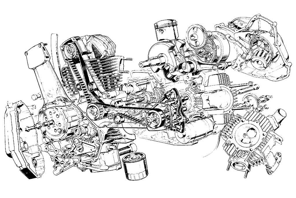 Ducati Engine Stand Drawing