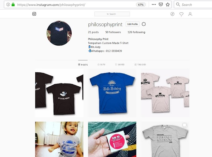 Tempahan Baju T-Shirt dan Sticker Custom Made bersama Philosophy Print