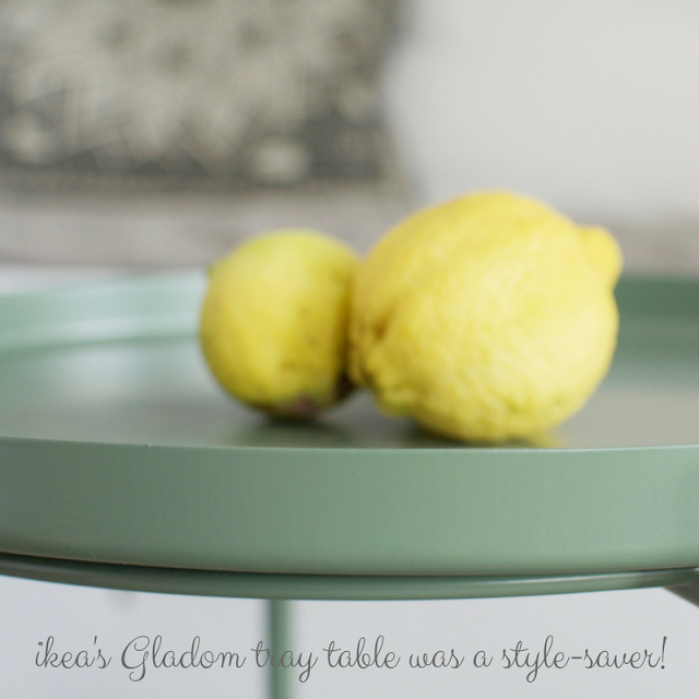 Ikea Gladom tray table, small kitchen • the round button blog