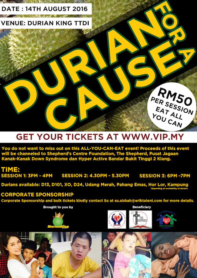 Durian King TTDI - 'Durian For A Cause' All-You-Can-Eat Buffet