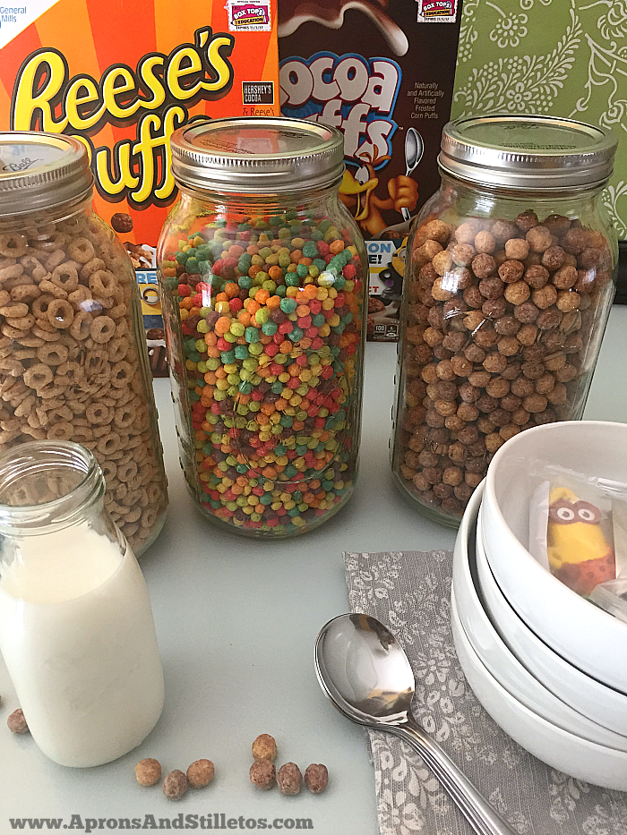 Fun Cereal Storage Idea