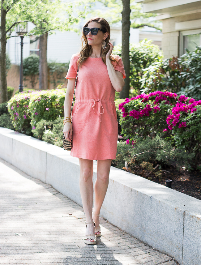 Coral Terry Dress #summerstyle #casualdress