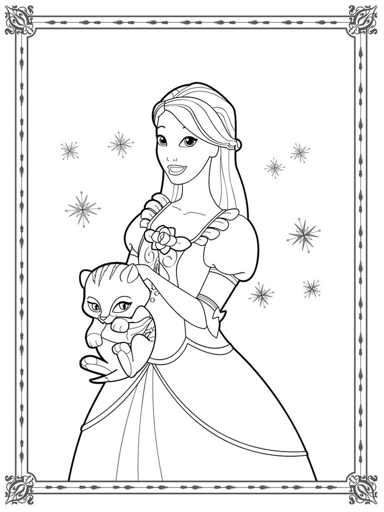 Free Colouring Pages Barbie Diamond Castle Coloring Page
