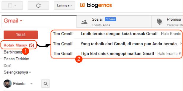 Cara Membuka Email Gmail Full Gambar