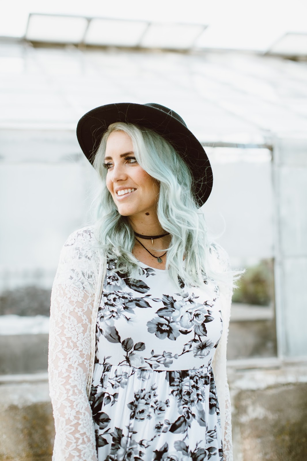 Choker, Mint Hair, Utah Fashion Blogger