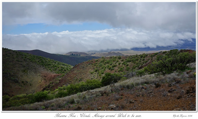 Mauna Kea: Clouds. Always around. Wish to be seen.