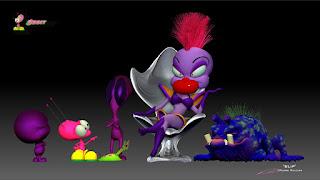 """""""BLiP""""_""""Queen Cosma Zarah Rules - Orbit, Warp, EBN, OZN & Grawg """"_Character design & ZBrush Sculpture ©Pierre Rouzier"""