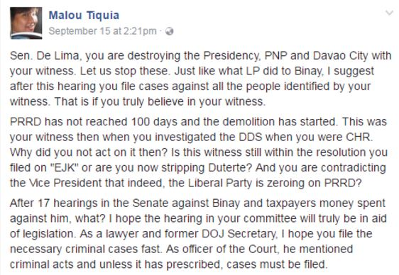 Veteran Political Analyst Commands Leila De Lima To Stop Destroying Duterte!