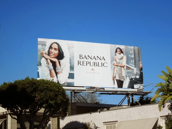 Banana Republic Open for Joy billboard