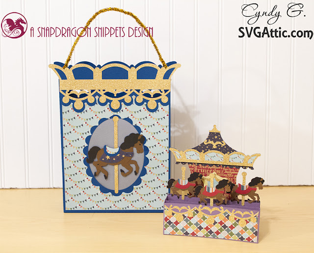Carousel card and matching bag