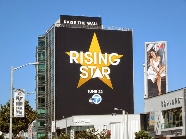 Giant Rising Star series launch billboard Sunset Strip