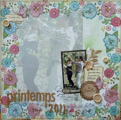 homemade scrapbooking background