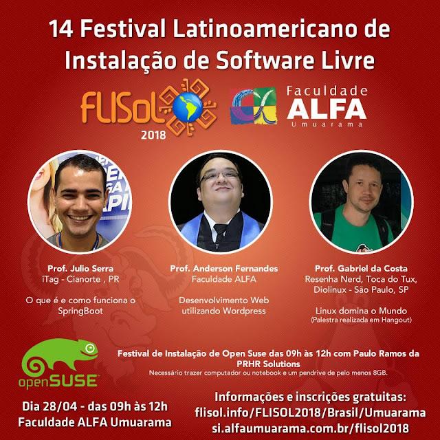 14º Festival Latinoamericano de instalação de software livre e de código aberto.