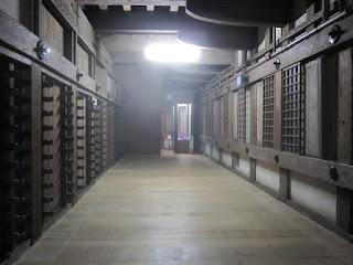 Dentro de Himeji